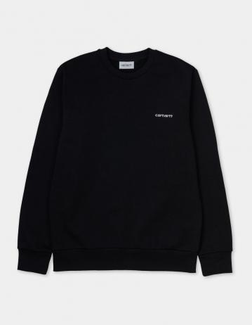 Carhartt Wip Script Embroidery Sweatshirt Black / White. - Product Photo 2