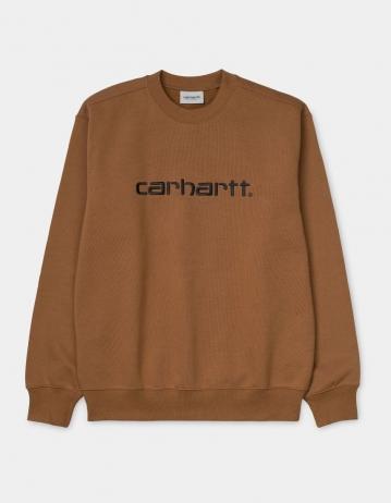 Carhartt Wip Carhartt Sweatshirt Hamilton Brown / Black. - Product Photo 2
