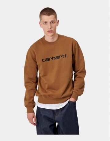 Carhartt Wip Carhartt Sweatshirt Hamilton Brown / Black. - Product Photo 1
