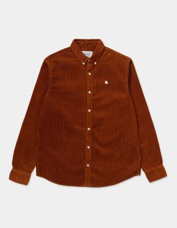 Carhartt Wip L/S Madison Cord Shirt Brandy / Wax. - Product Photo 2