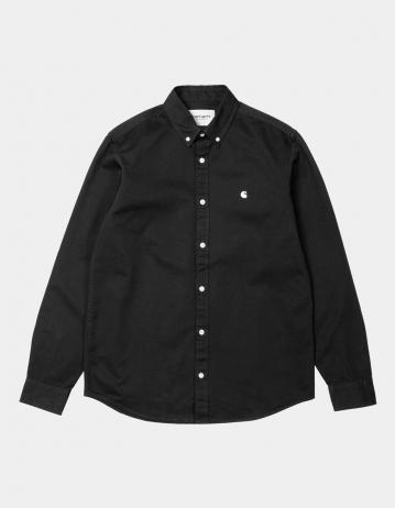 Carhartt Wip L/S Madison Shirt Black / Wax. - Product Photo 2