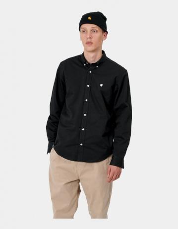 Carhartt Wip L/S Madison Shirt Black / Wax. - Product Photo 1