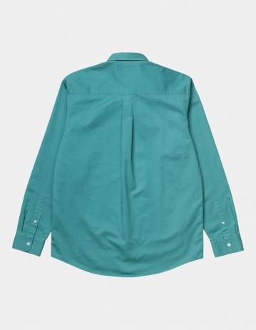 Carhartt Wip L/S Madison Shirt Frosted Turquoise / Black. - Product Photo 2