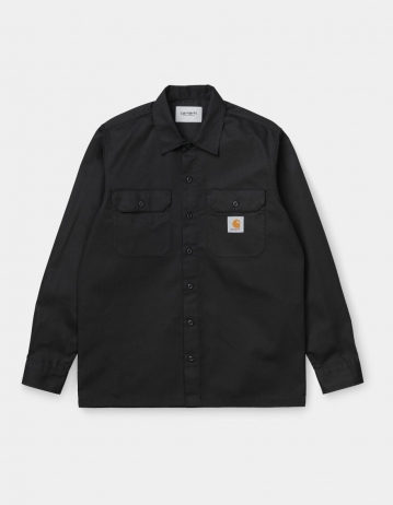 Carhartt Wip L/S Master Shirt Black. - Product Photo 2