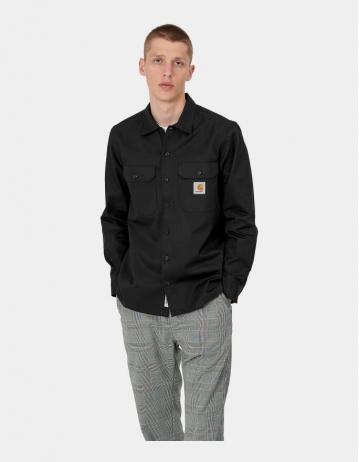 Carhartt Wip L/S Master Shirt Black. - Product Photo 1