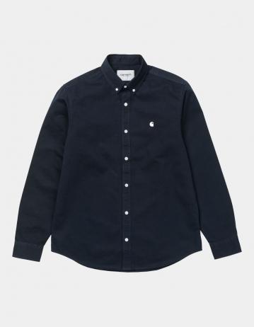 Carhartt Wip L/S Madison Shirt Dark Navy / Wax. - Product Photo 2