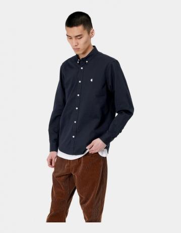 Carhartt Wip L/S Madison Shirt Dark Navy / Wax. - Product Photo 1