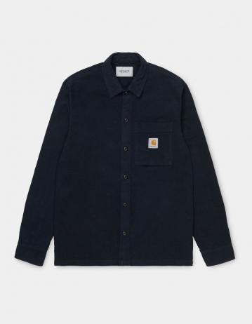 Carhartt Wip L/S Holston Shirt Dark Navy Rinsed. - Product Photo 2