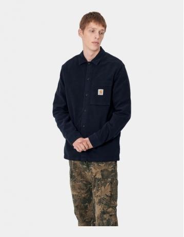 Carhartt Wip L/S Holston Shirt Dark Navy Rinsed. - Product Photo 1