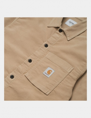 Carhartt Wip L/S Holston Shirt Leather Rinsed. - Product Photo 2
