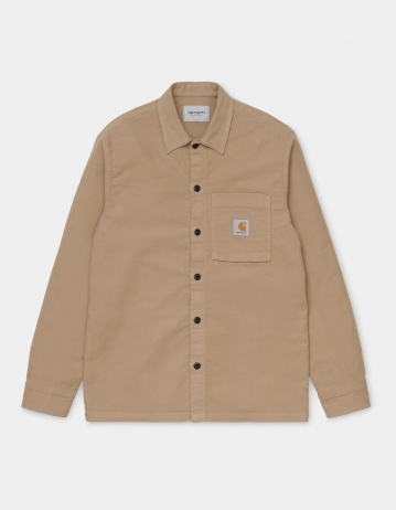 Carhartt Wip L/S Holston Shirt Leather Rinsed. - Product Photo 1