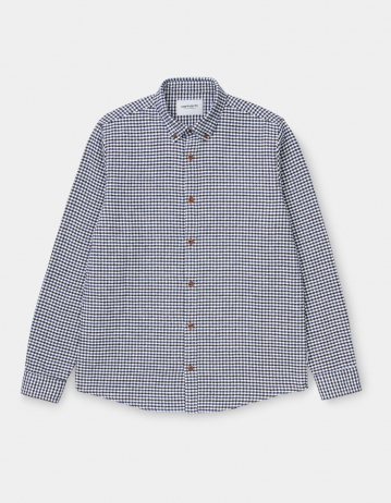 Carhartt Wip L/S Thorne Shirt Thorne Houndstooth, Tobacco / Wax. - Product Photo 2