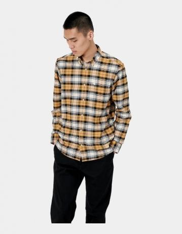 Carhartt Wip L/S Steen Shirt Steen Check, Winter Sun. - Product Photo 1