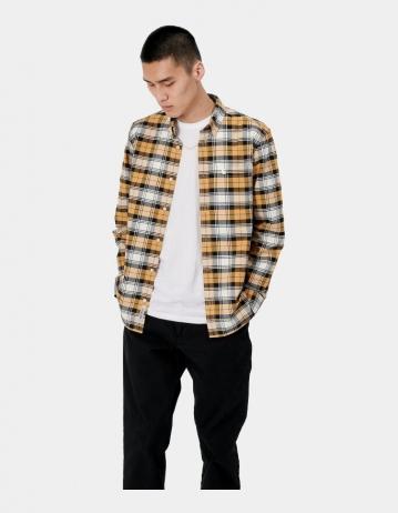 Carhartt Wip L/S Steen Shirt Steen Check, Winter Sun. - Product Photo 2