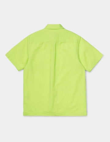 Carhartt Wip S/S Southfield Shirt Lime. - Product Photo 2
