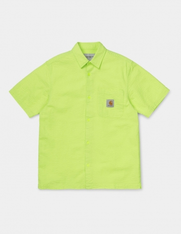 Carhartt Wip S/S Southfield Shirt Lime. - Product Photo 1