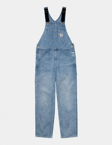 Carhartt Wip Bib Overall Blue Light Used Wash. - Product Photo 1