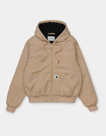 Carhartt Wip W Active Jacket Dusty H Brown Aged Canvas. - Product Photo 2