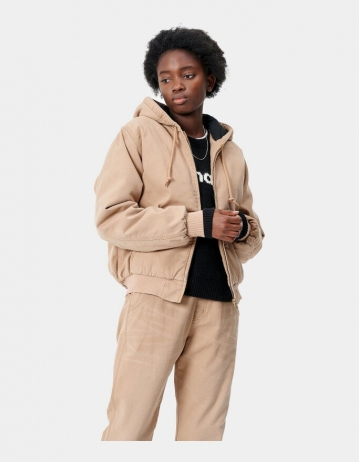 Carhartt Wip W Active Jacket Dusty H Brown Aged Canvas. - Product Photo 1