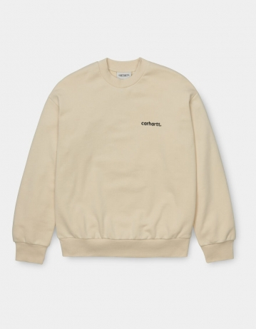 Carhartt Wip W Typeface Sweatshirt Flour / Black. - Product Photo 1