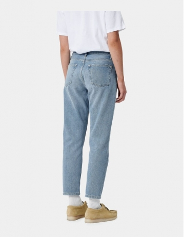 Carhartt Wip W Page Carrot Ankle Pant Blue Light Stone Washed. - Product Photo 2