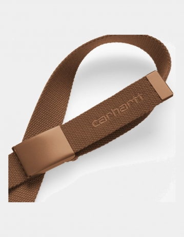 Carhartt Wip Script Belt Tonal Hamilton Brown. - Product Photo 2
