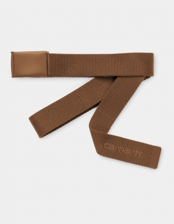 Carhartt Wip Script Belt Tonal Hamilton Brown. - Product Photo 1