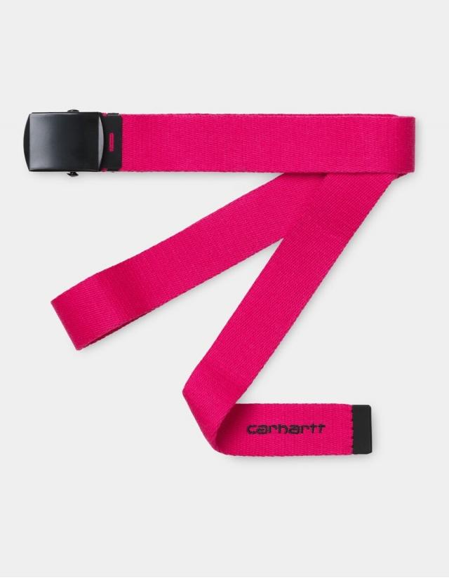 Carhartt Wip Orbit Belt Ruby Pink / Black. - Belt  - Cover Photo 1