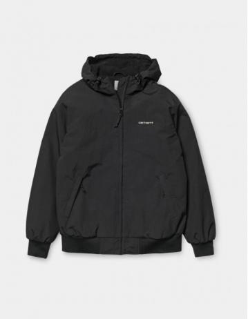 Carhartt Hooded Sail Jacket Black - Product Photo 1