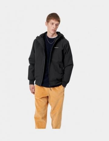 Carhartt Hooded Sail Jacket Black - Product Photo 2