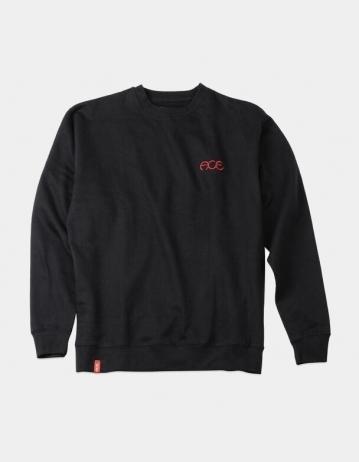 Ace Ace - Hutch Crew Neck Sweatshirt - Black - Product Photo 1