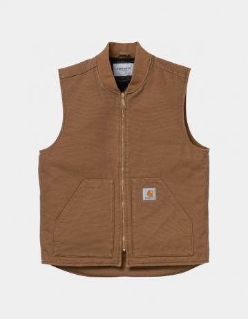 Carhartt Wip Classic Vest Hamilton Brown Rinsed. - Product Photo 1