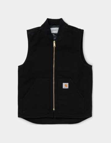 Carhartt Wip Classic Vest Black Rinsed. - Product Photo 1