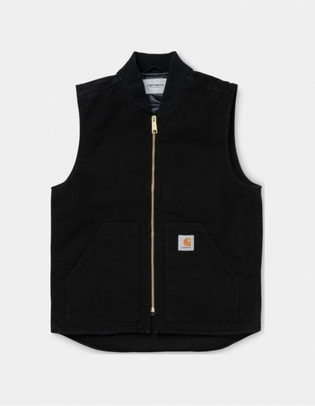 Carhartt Wip Classic Vest Black Rinsed. - Man Jacket  - Cover Photo 1