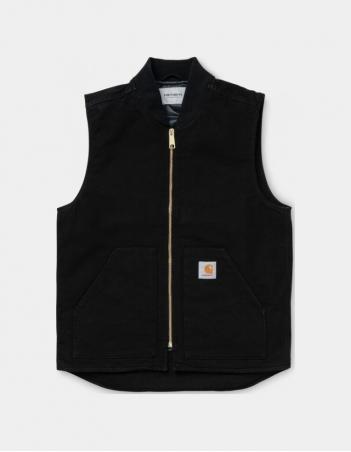 Carhartt WIP Classic Vest Black rinsed. - Man Jacket - Miniature Photo 1