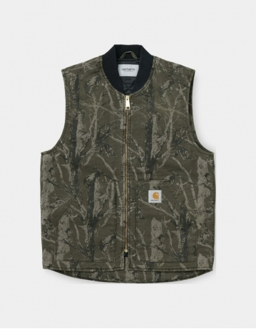 Carhartt Wip Classic Vest Camo Tree, Green Aged Canvas. - Product Photo 1