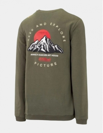 Picture Organic Clothing Mt Hood Crew Dark Army Green - Product Photo 1