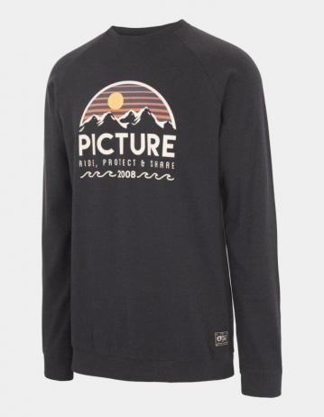 Picture Organic Clothing Bellevue Crewneck C Pale Blue Melange - Product Photo 1