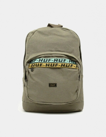 Huf Canvas Utility Backpack - Olive. - Product Photo 1