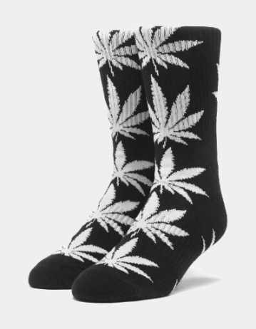 Huf Essentials Plantlife Sock - Black - Product Photo 1
