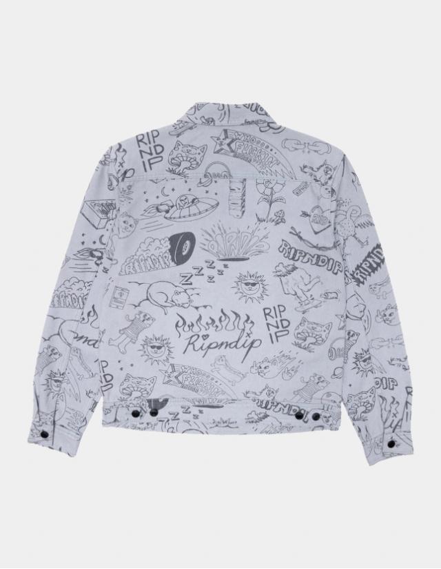 Ripndip - Sharpie Denim Jacket - Light Denim Wash - Man Jacket  - Cover Photo 2