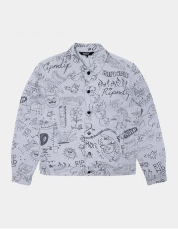 Ripndip - Sharpie Denim Jacket - Light Denim Wash - Product Photo 1