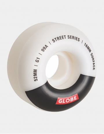 Globe g1 Street Wheel 52mm White/Black/Bar - Product Photo 1