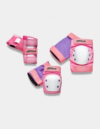 Impala Rollerskates ADULT PROTECTIVE PACK - Pink - 3 Pack - Miniature Photo 1