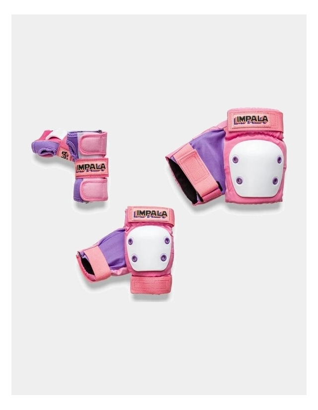 Impala Rollerskates Kids Protective Pack - Pink - 3 Pack  - Cover Photo 1