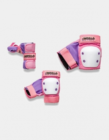 Impala Rollerskates KIDS PROTECTIVE PACK - Pink - 3 Pack - Miniature Photo 1