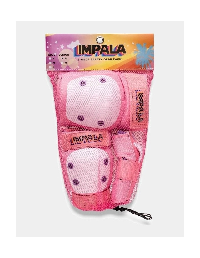 Impala Rollerskates Kids Protective Pack - Pink - 3 Pack  - Cover Photo 2