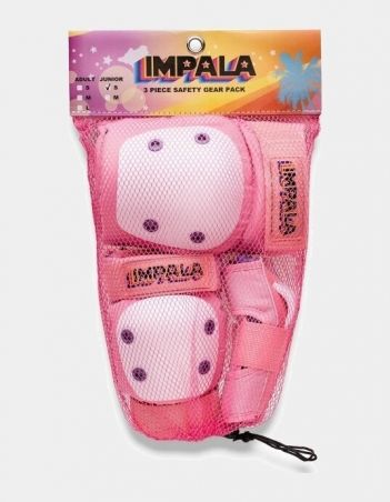 Impala Rollerskates KIDS PROTECTIVE PACK - Pink - 3 Pack - Miniature Photo 2