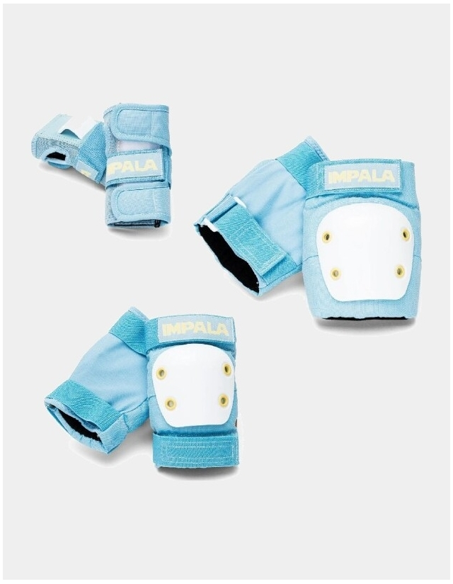 Impala Rollerskates Kids Protective Pack - Skyblue - 3 Pack  - Cover Photo 2