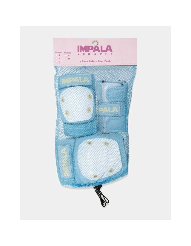 Impala Rollerskates Kids Protective Pack - Skyblue - 3 Pack  - Cover Photo 1